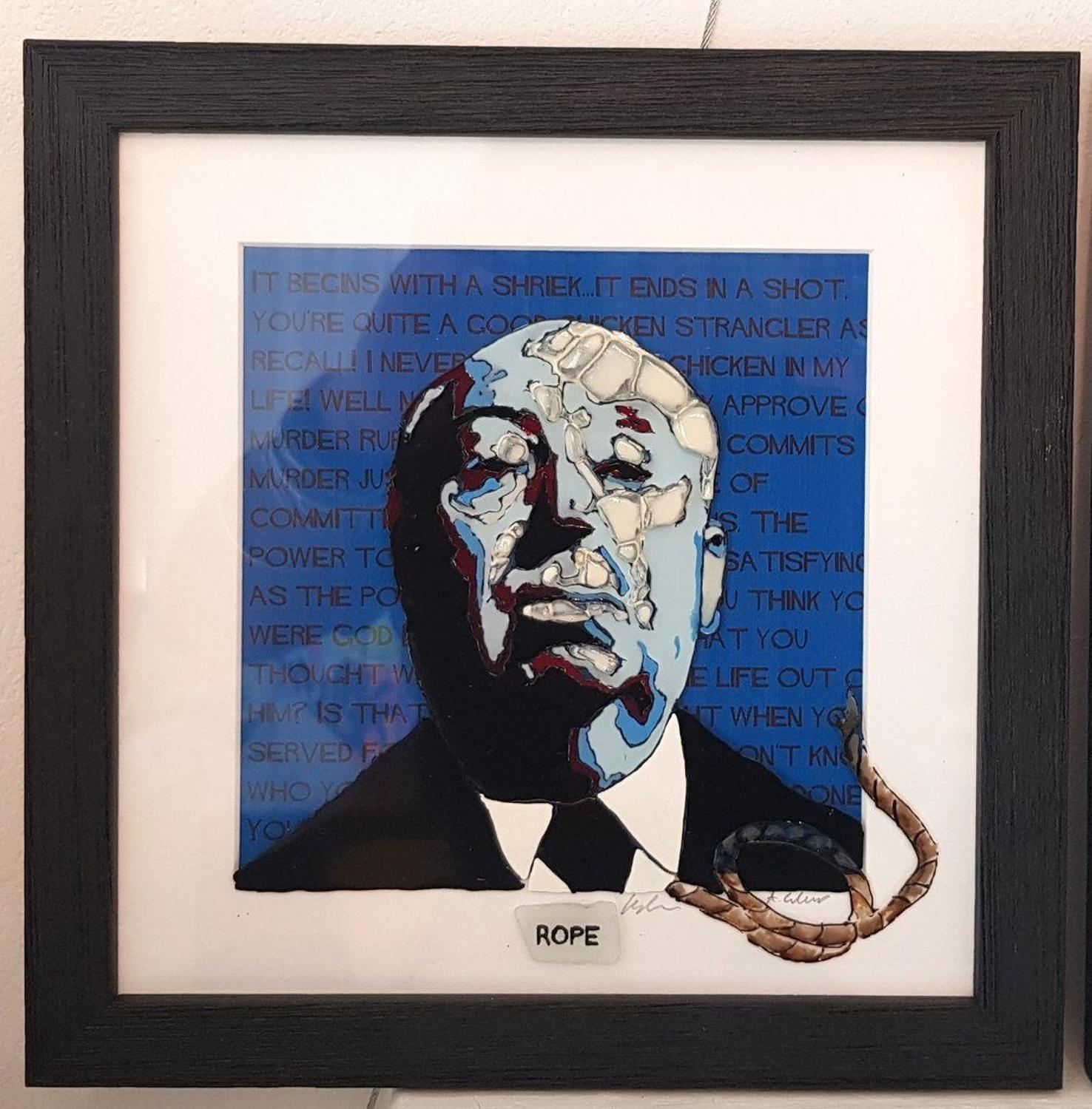 Hitchcock - Rope by Sea On Glass Framed Art