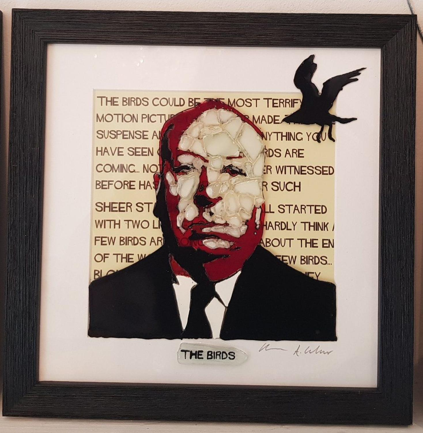 Hitchcock - The Birds  by Sea On Glass Framed Art