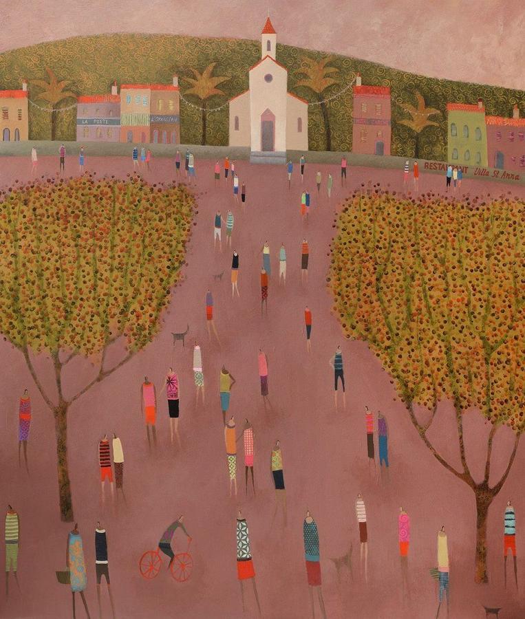 Island Square Framed Art Print by Emma Brownjohn