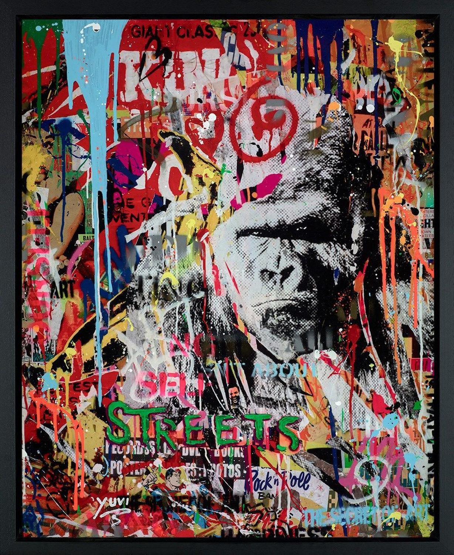 Urban Jungle I Framed Canvas Art Print by Yuvi