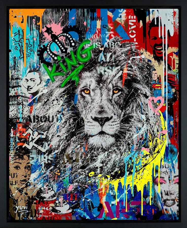 Urban Jungle II Framed Canvas Art Print by Yuvi