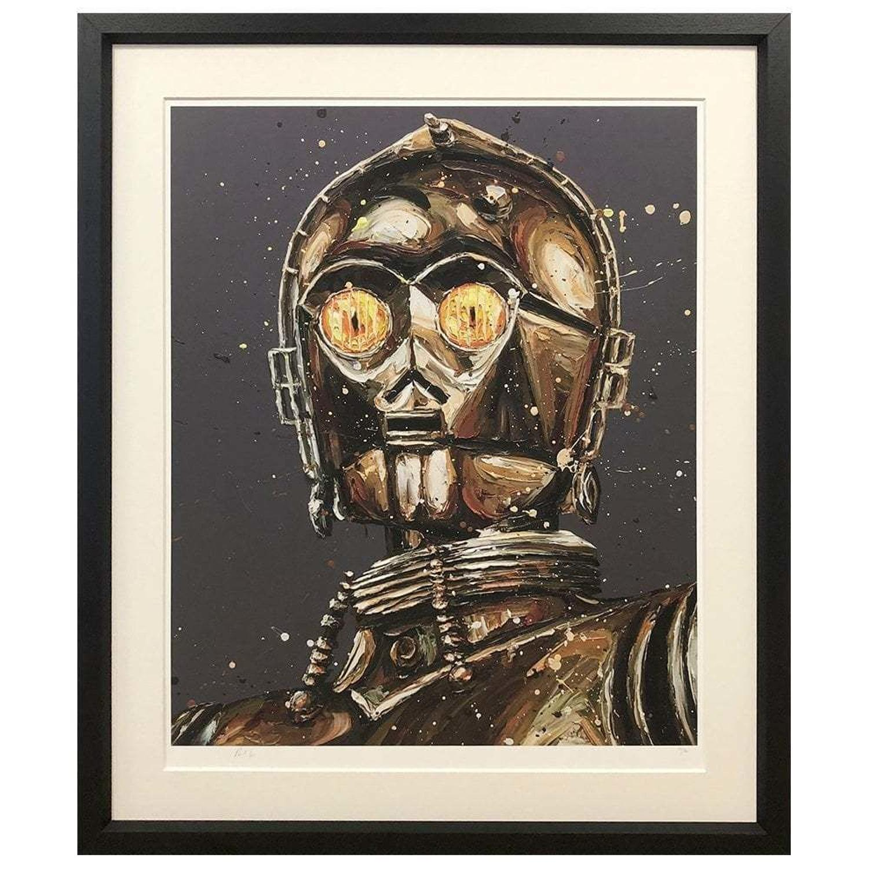 Let The Wookie Win C3-PO Framed Art Print Paul Oz