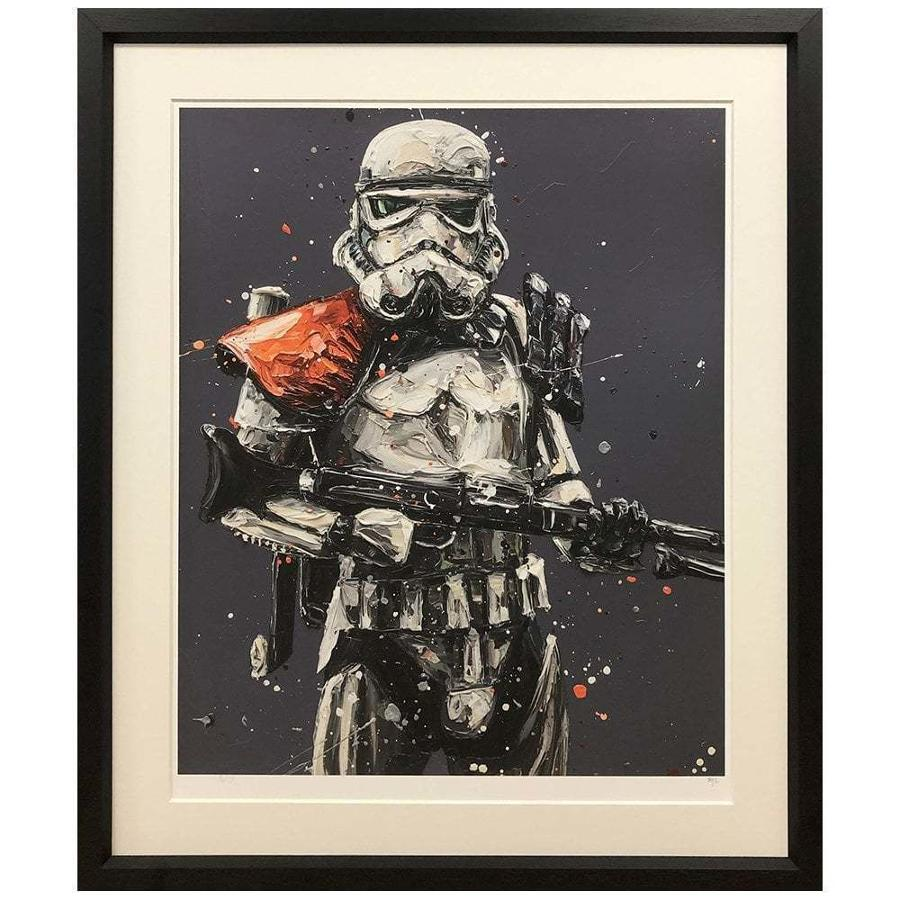 Move Along... Stormtrooper Framed Art Print by Paul Oz