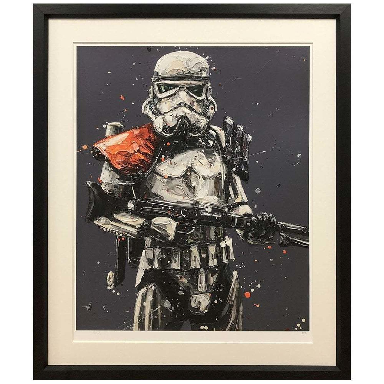 Move Along... Stormtrooper Framed Art Print by Paul Oz