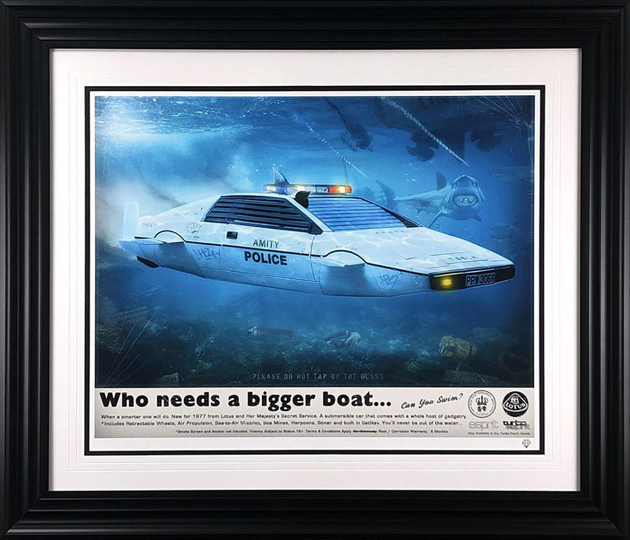 The Shark Who Loved Me Framed Art Print By JJ Adams