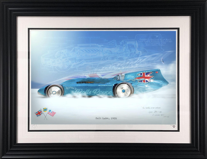 Bluebird Framed Art Print By JJ Adams