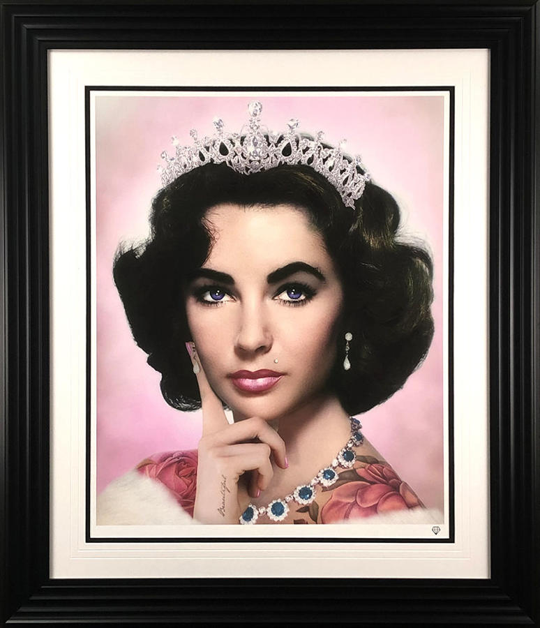 Elizabeth Taylor (Colour) Framed Art Print By JJ Adams
