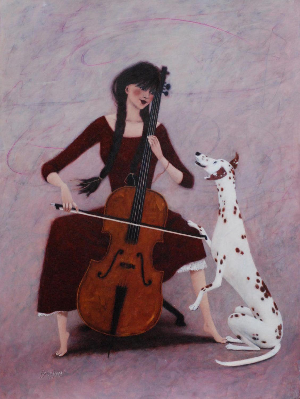 Mello Cello Framed Art Print By Gwyn Jones
