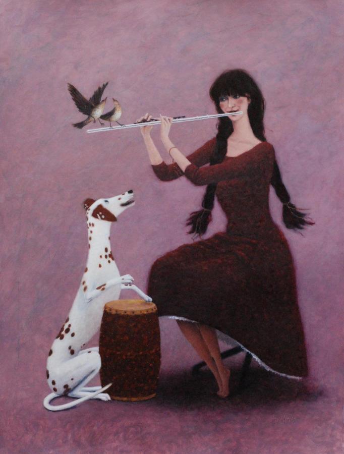 The Magic Flute Framed Art Print By Gwyn Jones