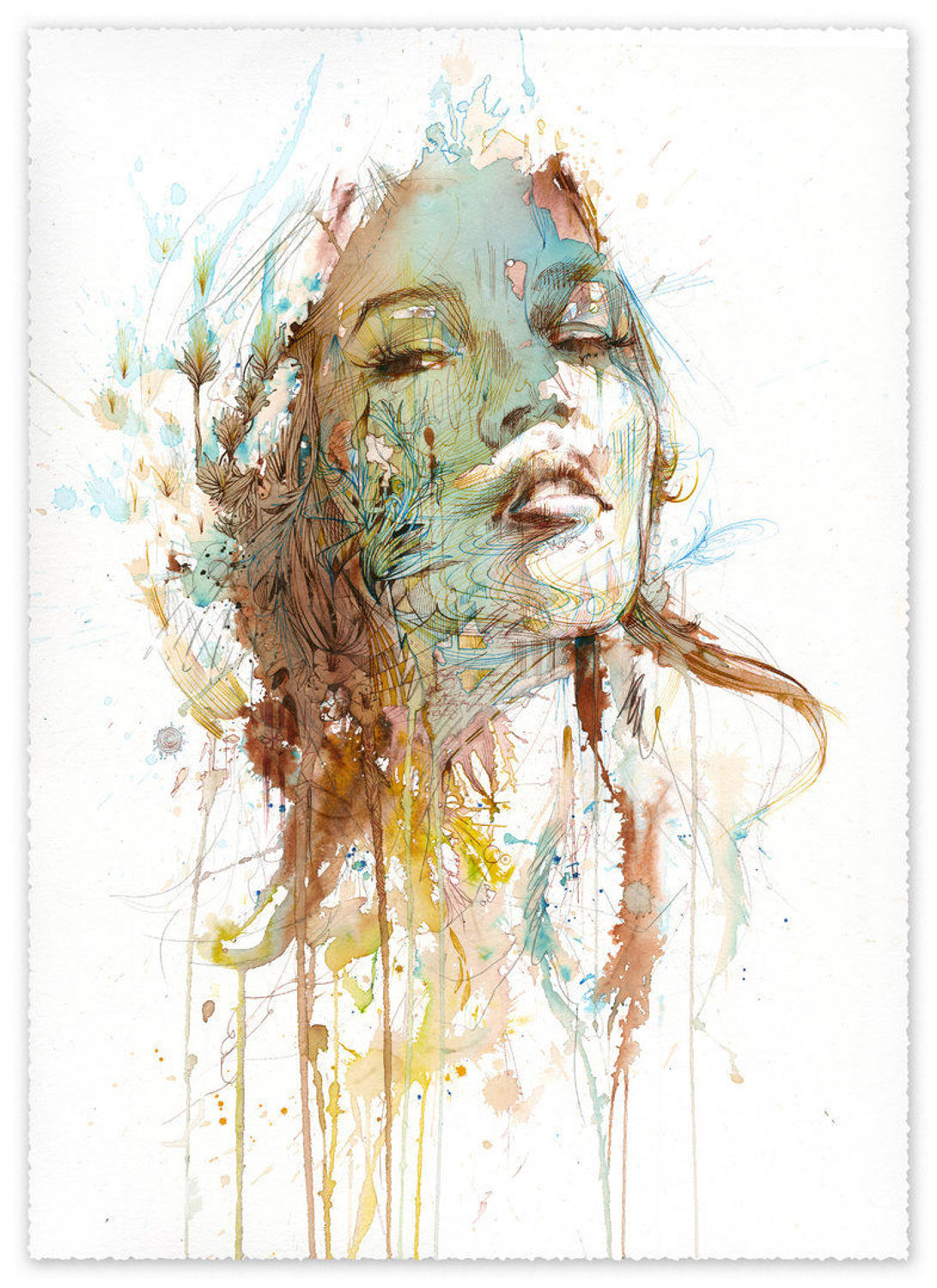 Human Nature by Carne Griffiths Art Print