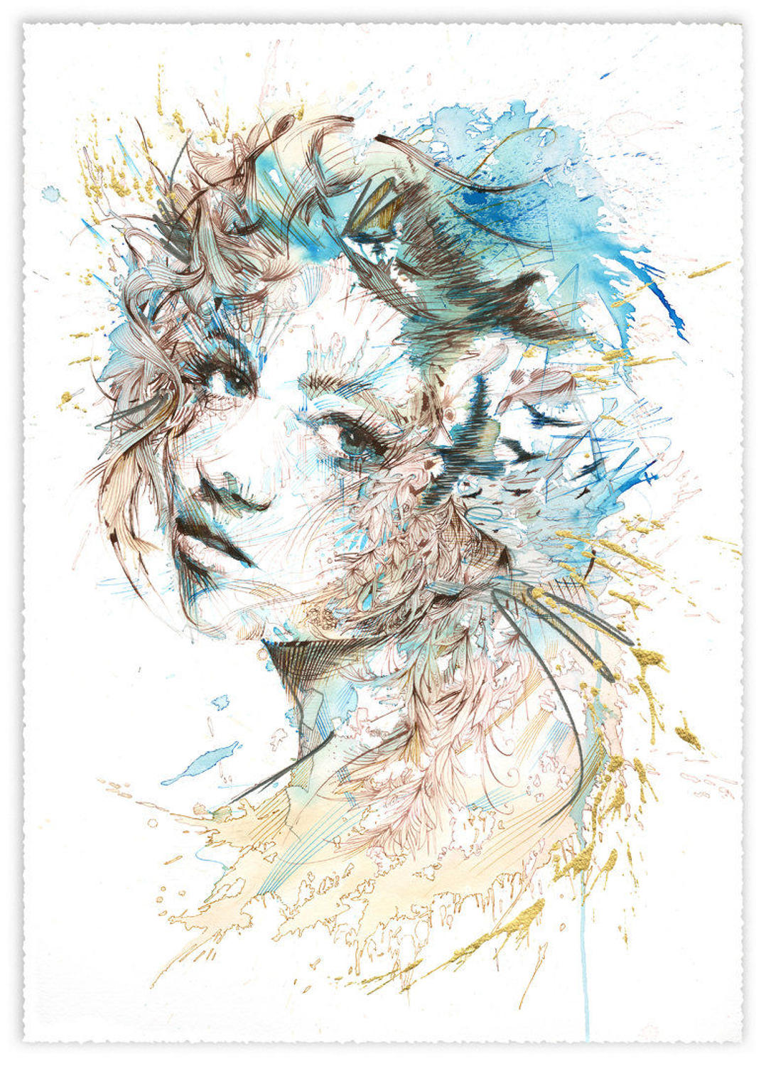 The Cast  Art Print by Carne Griffiths