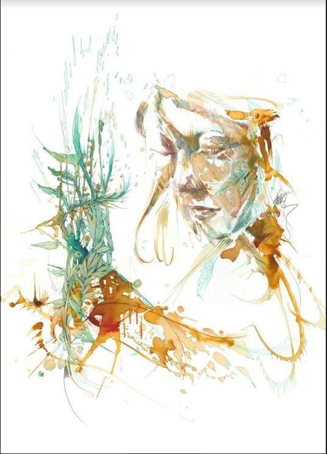 String Theory Art Print by Carne Griffiths