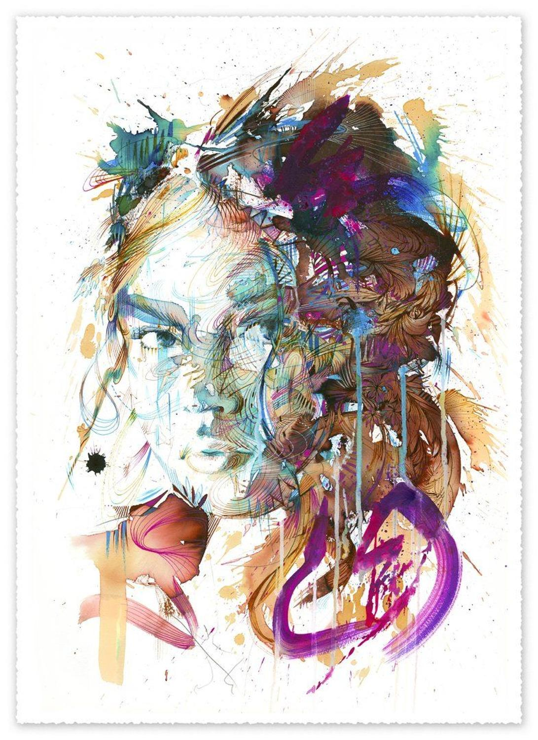 First Sight Art Print by Carne Griffiths