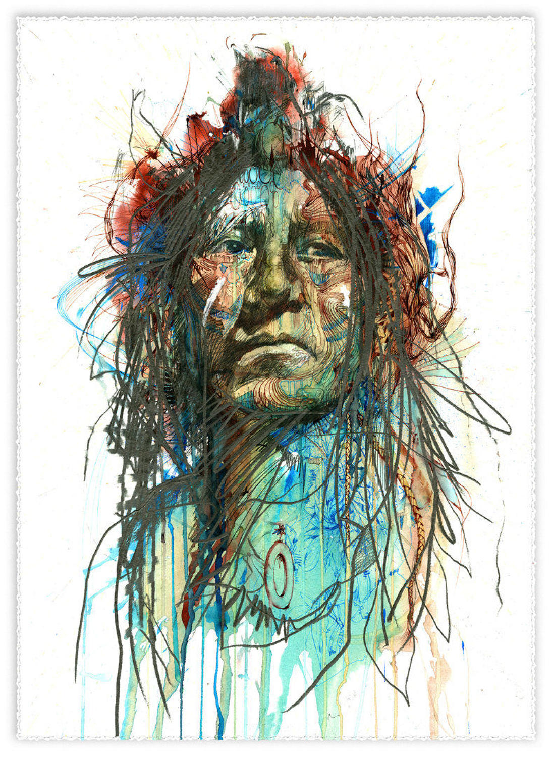 Wild Frontier Art Print by Carne Griffiths