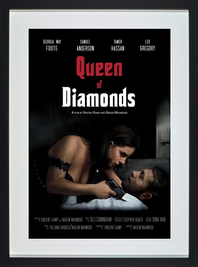 Queen of Diamonds Framed Art Print by Vincent Kamp