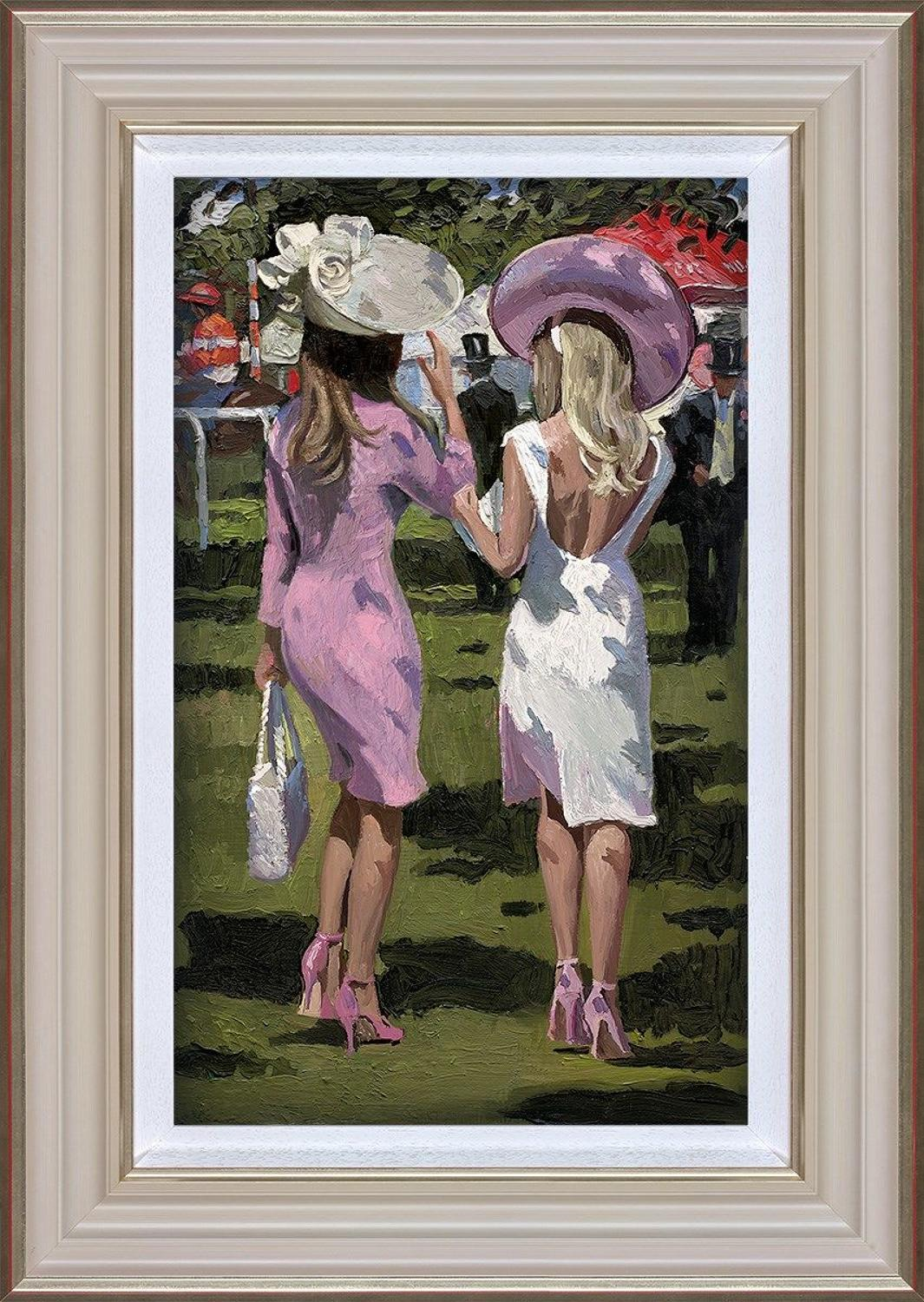 Ascot Chic II Framed Art Print By Sherree Valentine Daines