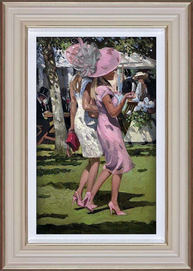 Ascot Chic I Framed Art Print By Sherree Valentine Daines
