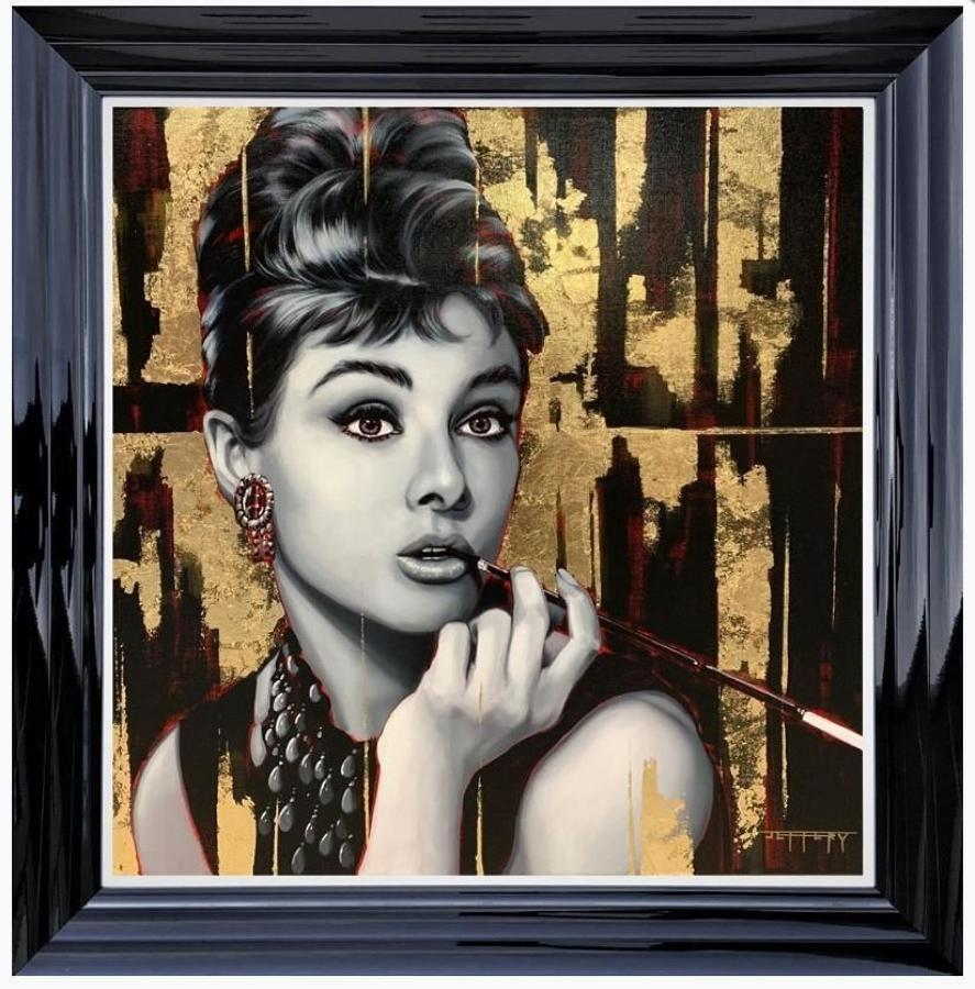 Hepburn Framed Art Print by Ben Jeffrey