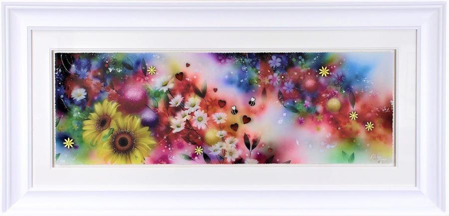 Blossom & Bee Framed Art Print by Kealey Farmer