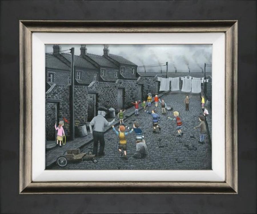 Owzat Framed Canvas Art Print by Leigh Lambert