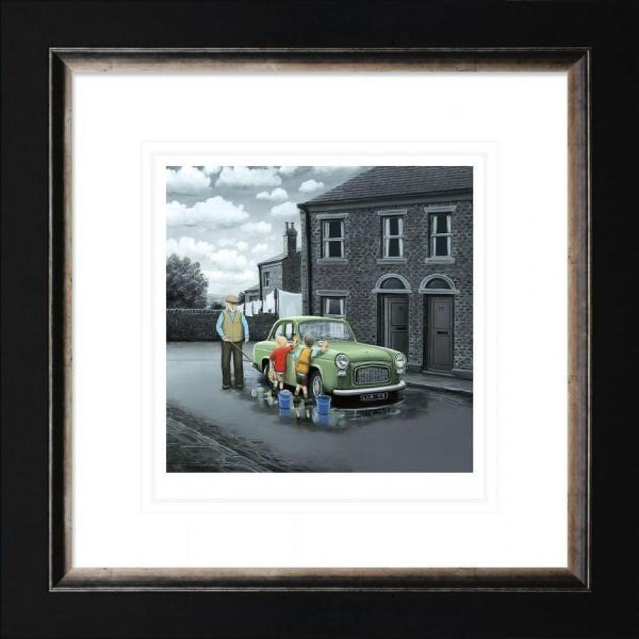 Don't Forget Them Wheels Framed Paper Art Print by Leigh Lambert