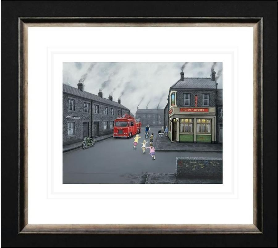 False Alarm Framed Paper Art Print by Leigh Lambert