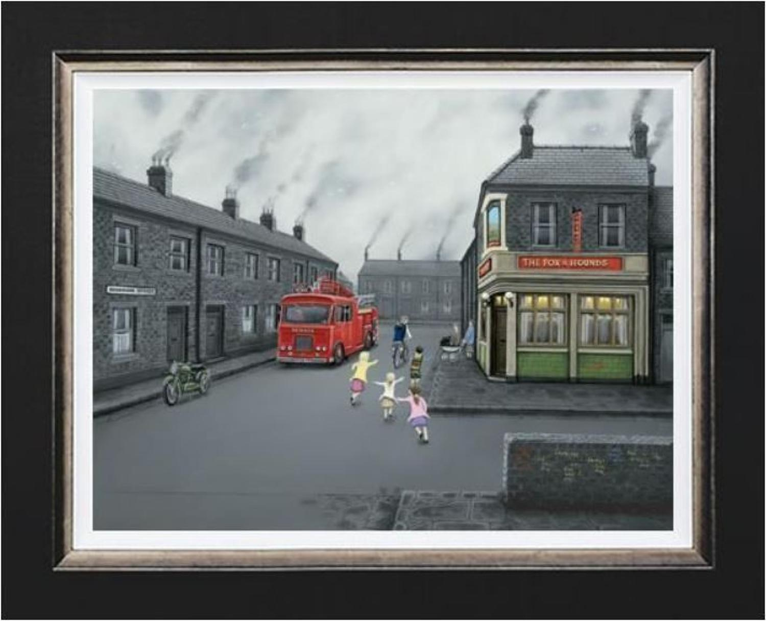 False Alarm Framed Canvas Art Print by Leigh Lambert