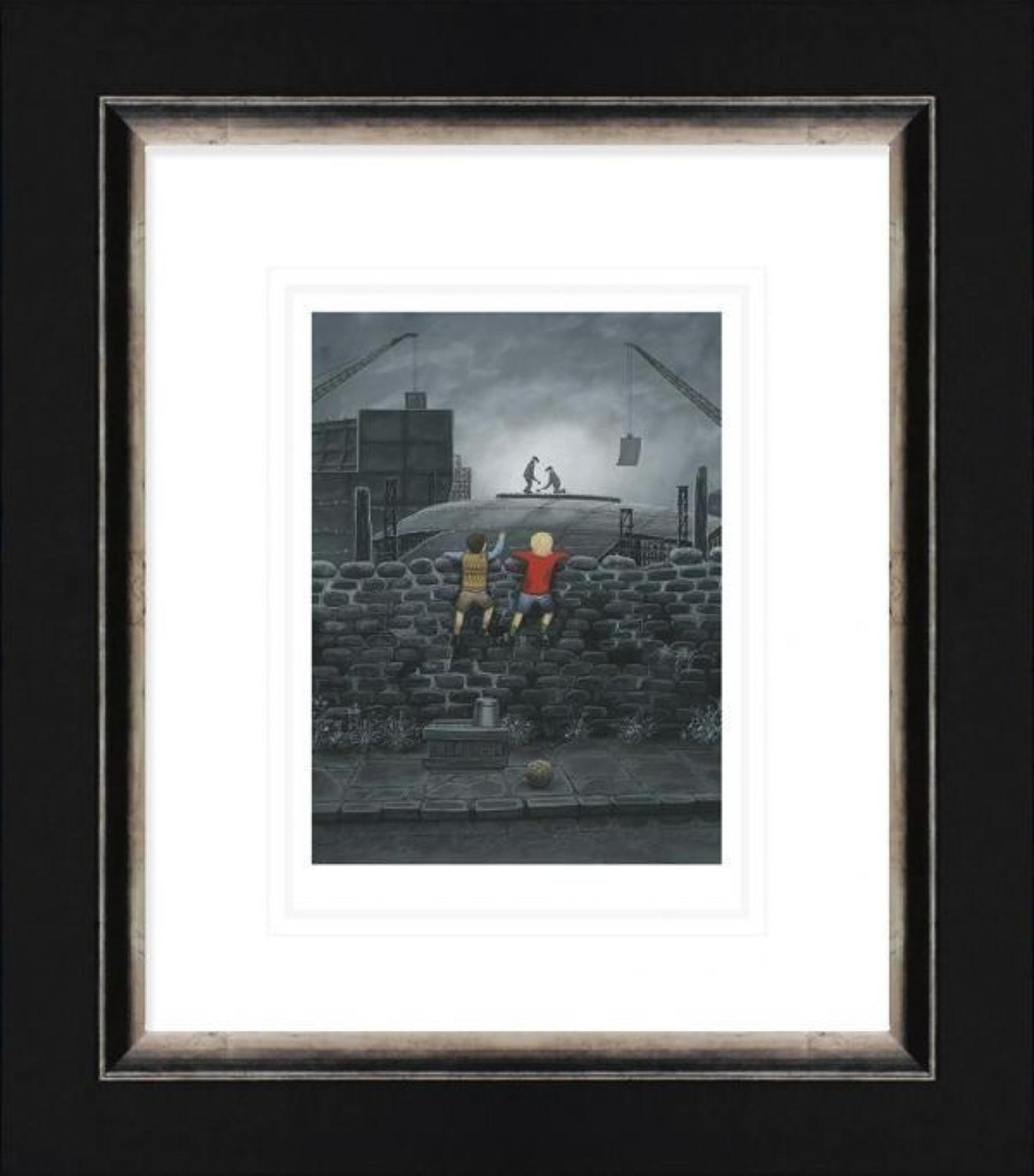 Give us A Wave Dad Framed Paper Art Print by Leigh Lambert