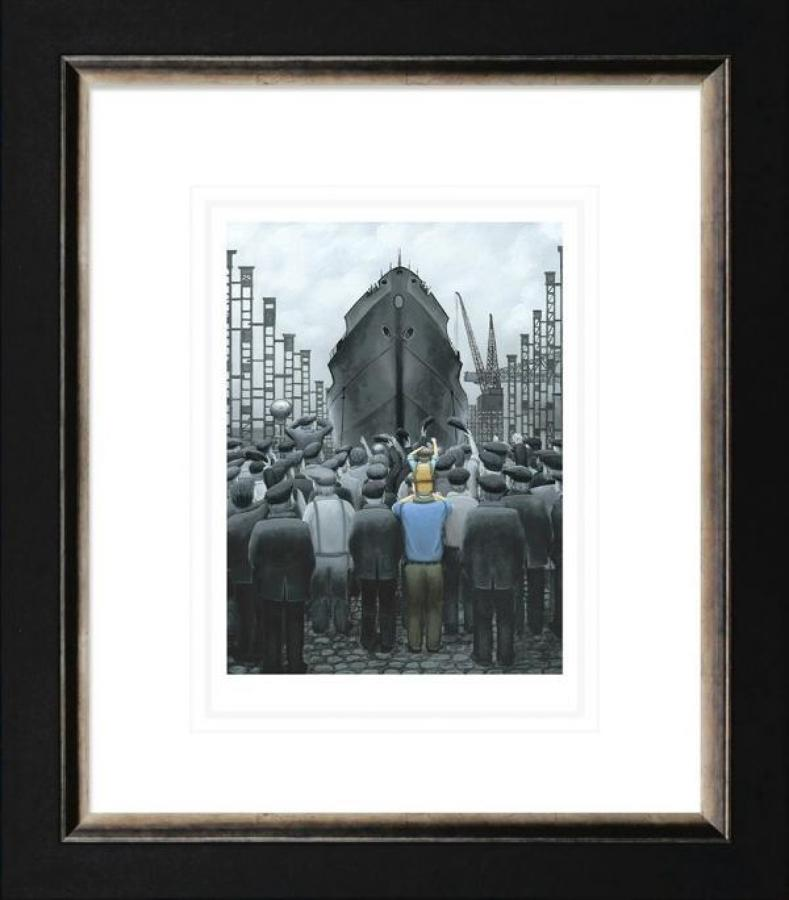 The Ship That Dad Built Framed Paper Art Print by Leigh Lambert