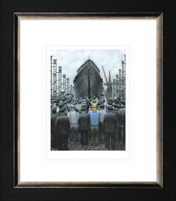 The Ship That Dad Built Framed Paper Art Print by Leigh Lambert