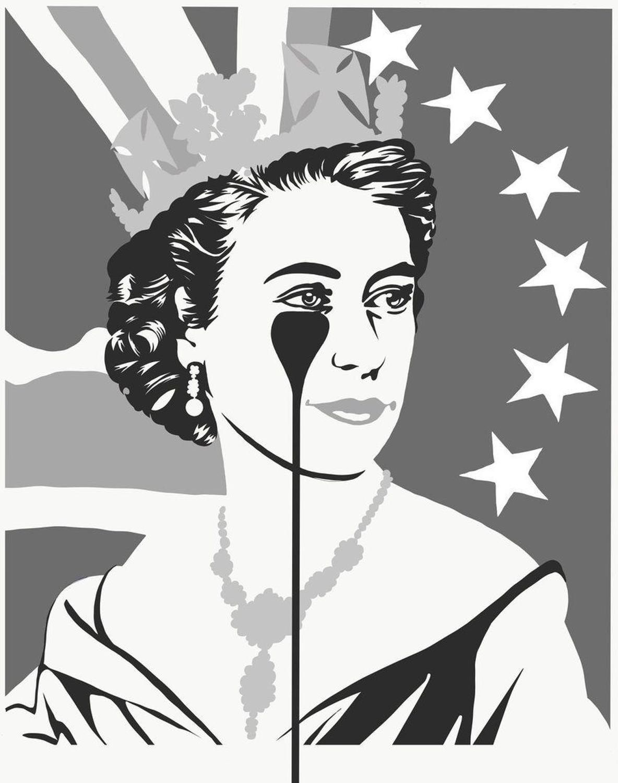 Black Brexit  - Black & Silver Art Print By Pure Evil
