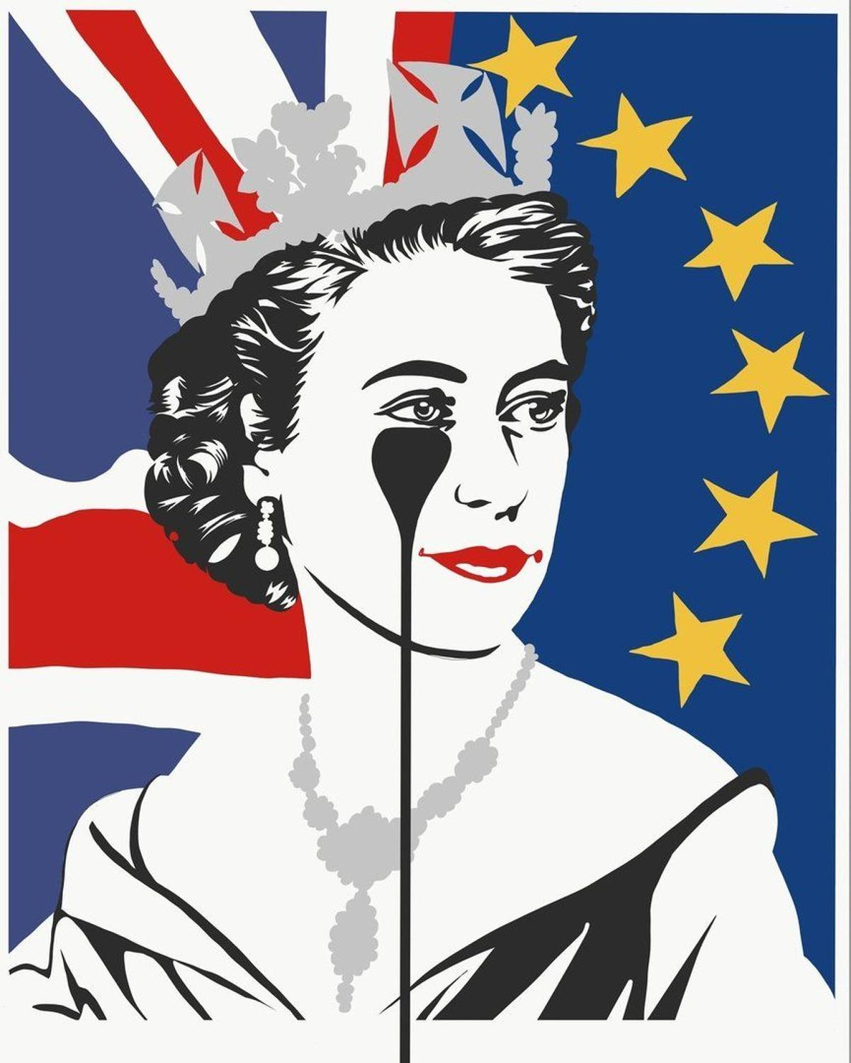 Brexit Nightmare - Red White Blue & Silver Art Print By Pure Evil