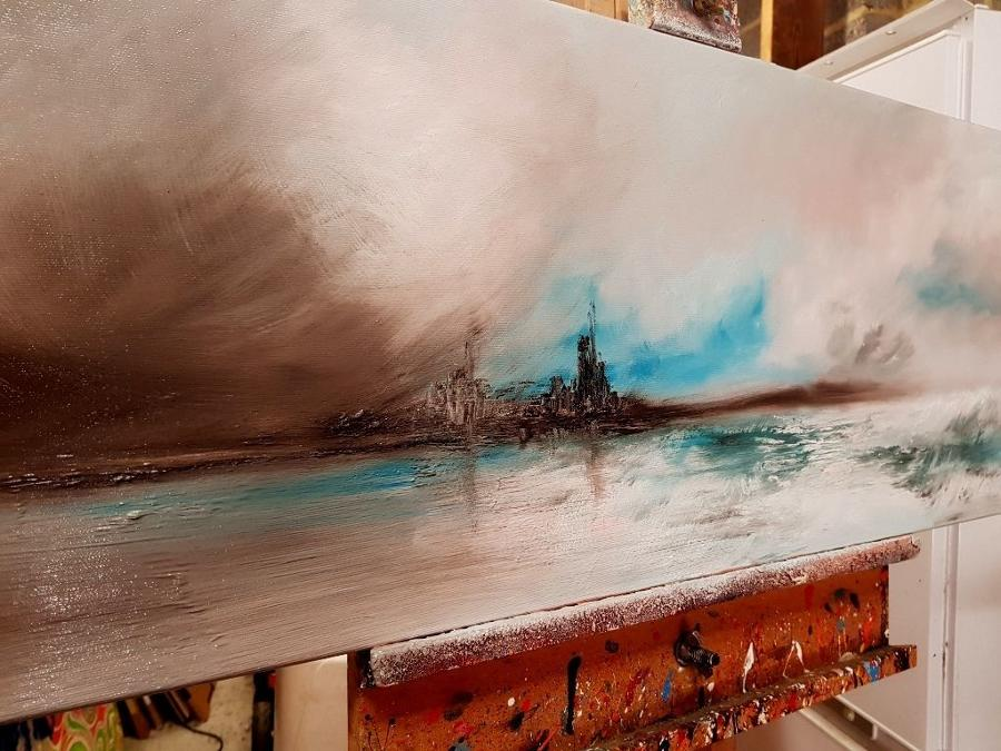 Turquoise Waters Original Painting by Melanie Jacobs