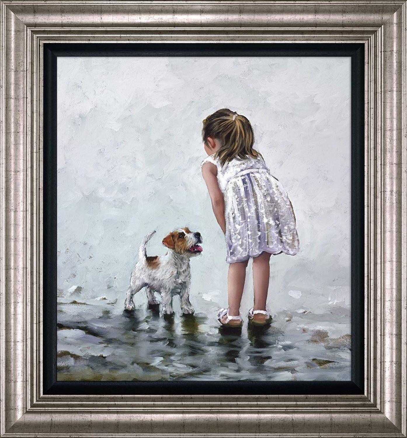 Puppy Love Framed Art Print by Keith Proctor