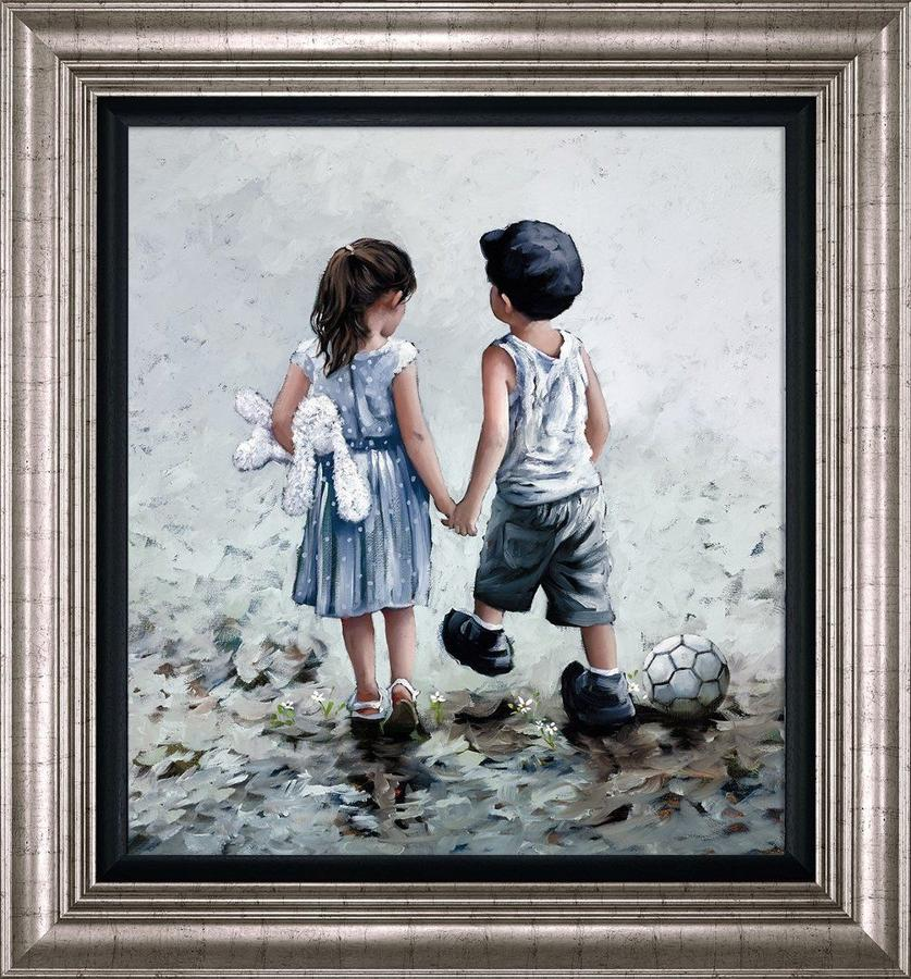 Small Talk Framed Art Print by Keith Proctor