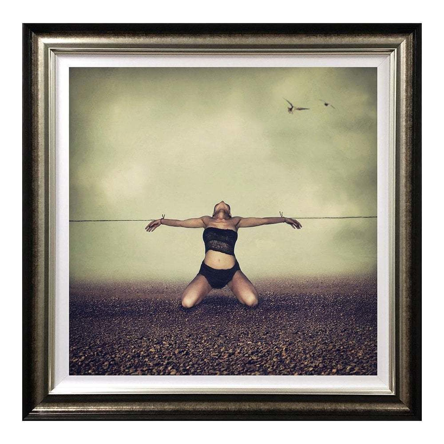 Pulled In All Directions Framed Art Print by Michelle Mack