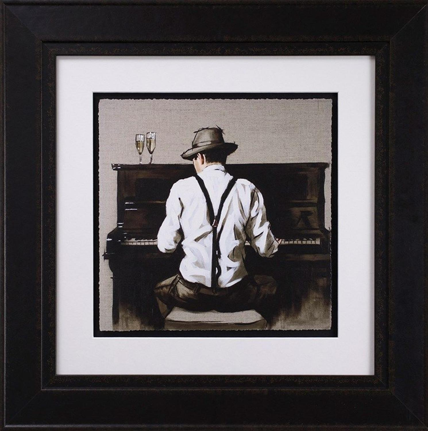 Piano Man Framed Art Print by Richard Blunt