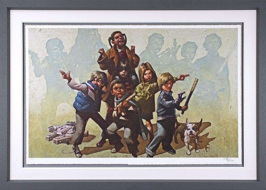 Force It Framed Art Print by Craig Davison