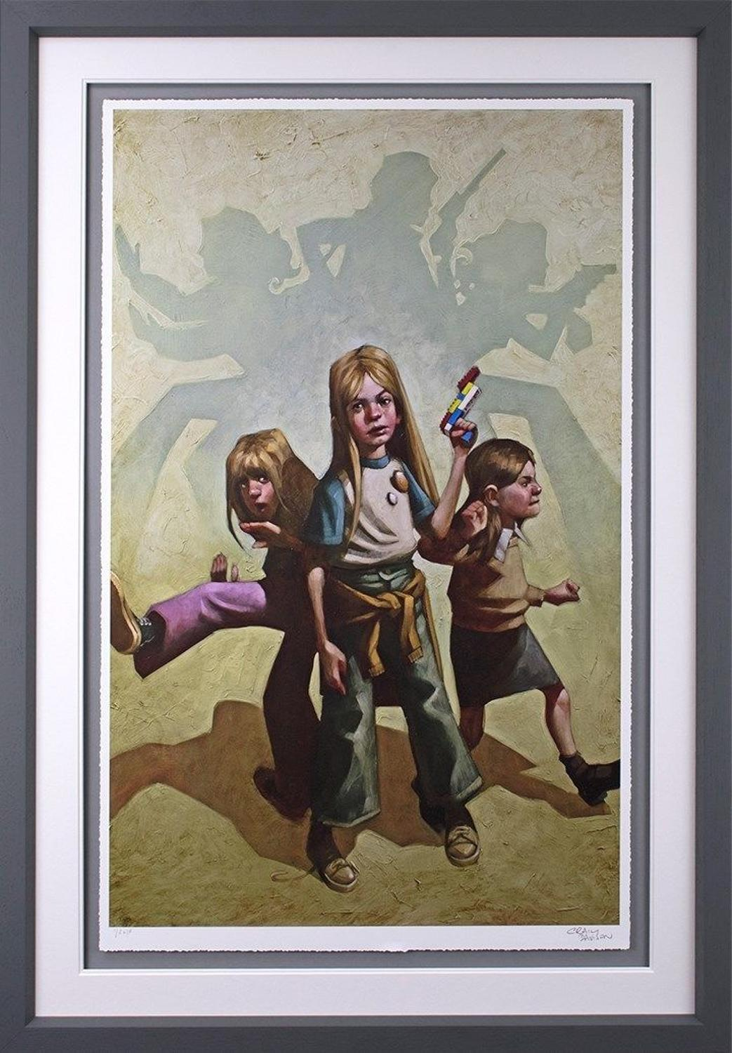 Ok Angels, let's Get To Work - Framed Art Print by Craig Davison
