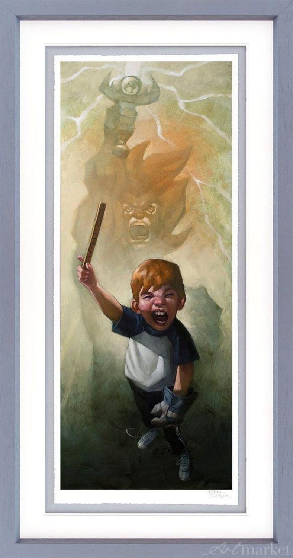 Thunder, Thunder, Thunder Cats Hoooo - Framed Art Print by Craig