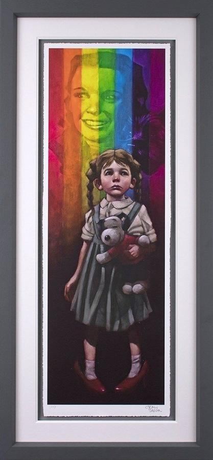 Birds Fly Over The Rainbow - Framed Art Print by Craig Davison