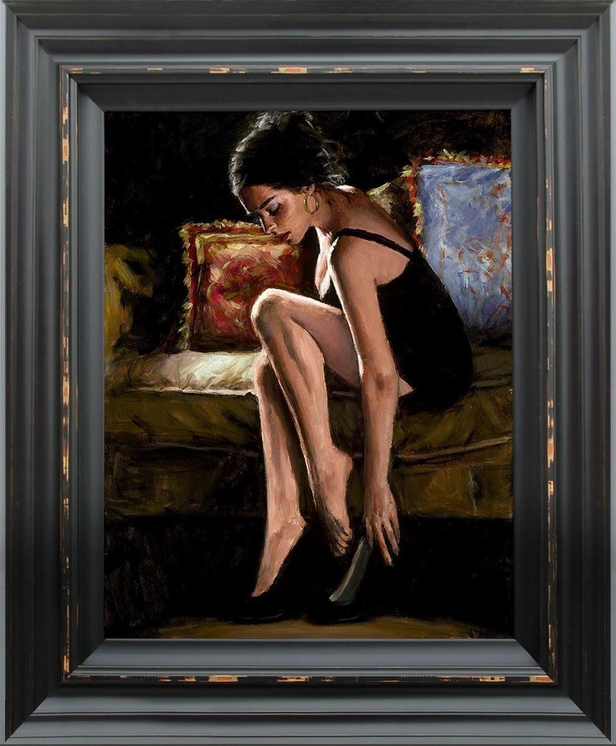 Blue and Red III  Framed Art Print by Fabian Perez