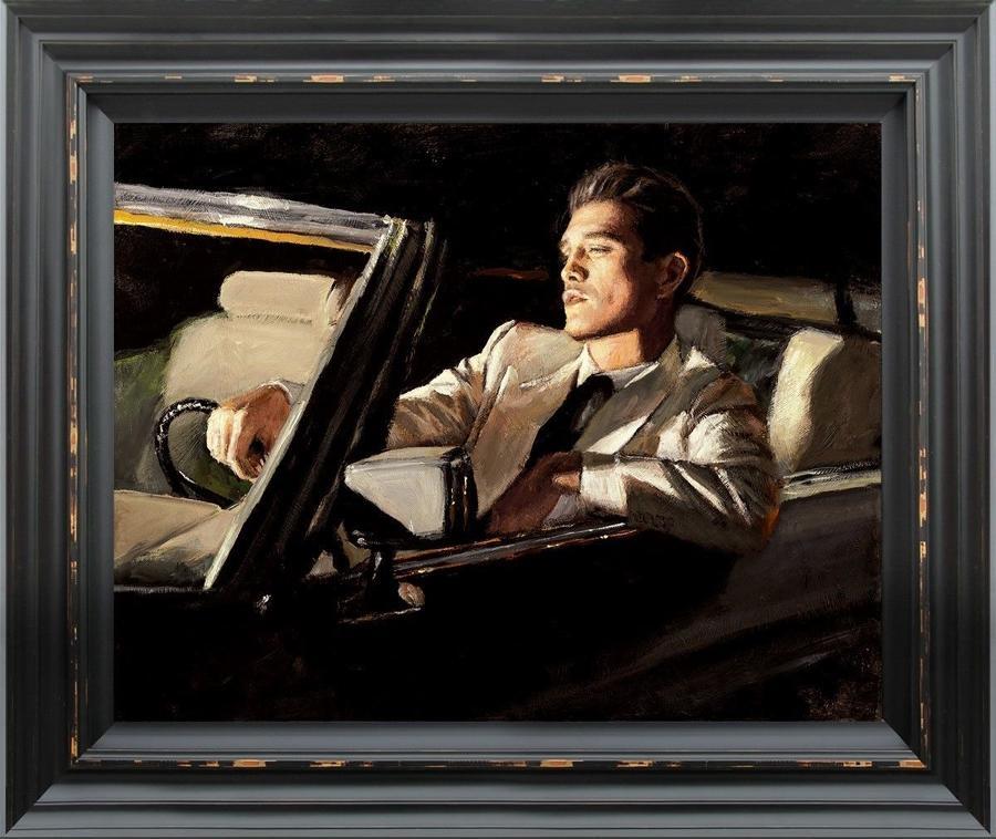 Late Drive II - Framed Art Print by Fabian Perez