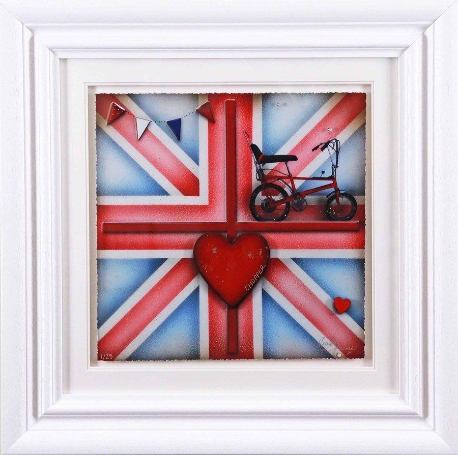 Britannia Chopper - Framed Art Print by Kealey Farmer