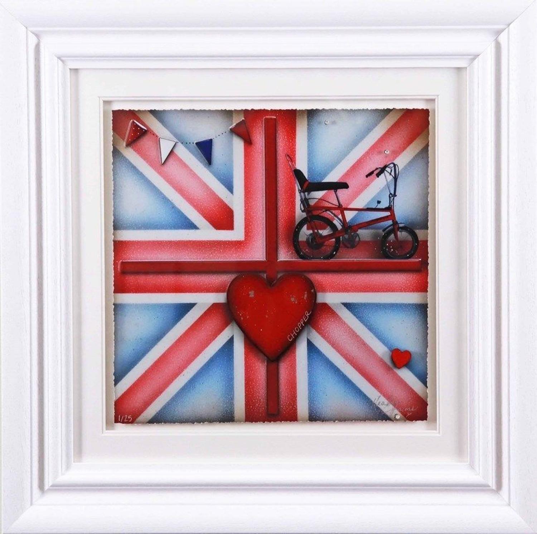 Britannia Chopper - Framed Art Print by Kealey Farmer