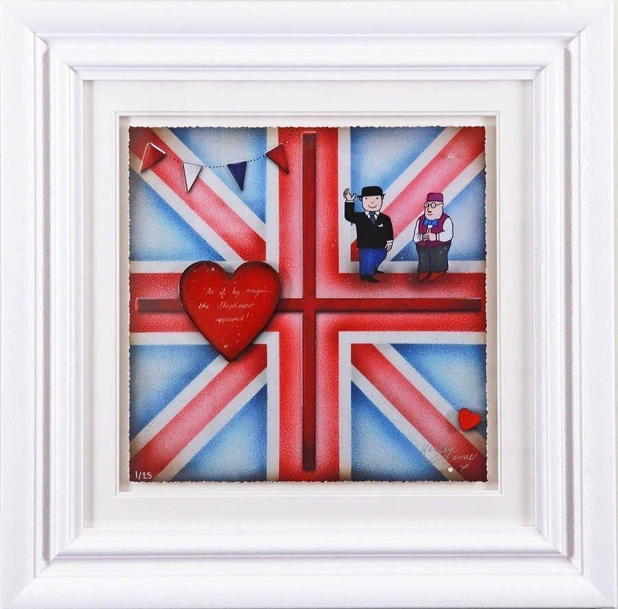 Britannia Mr Benn - Framed Art Print by Kealey Farmer