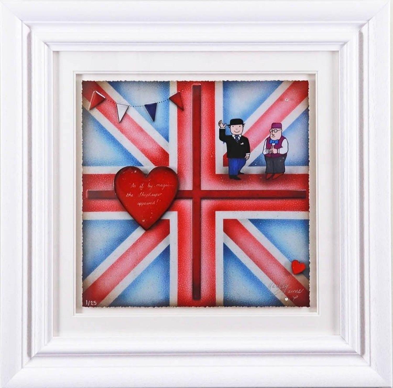 Britannia Mr Benn - Framed Art Print by Kealey Farmer