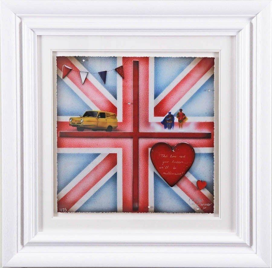 Britannia Batman & Robin - Framed Art Print by Kealey Farmer