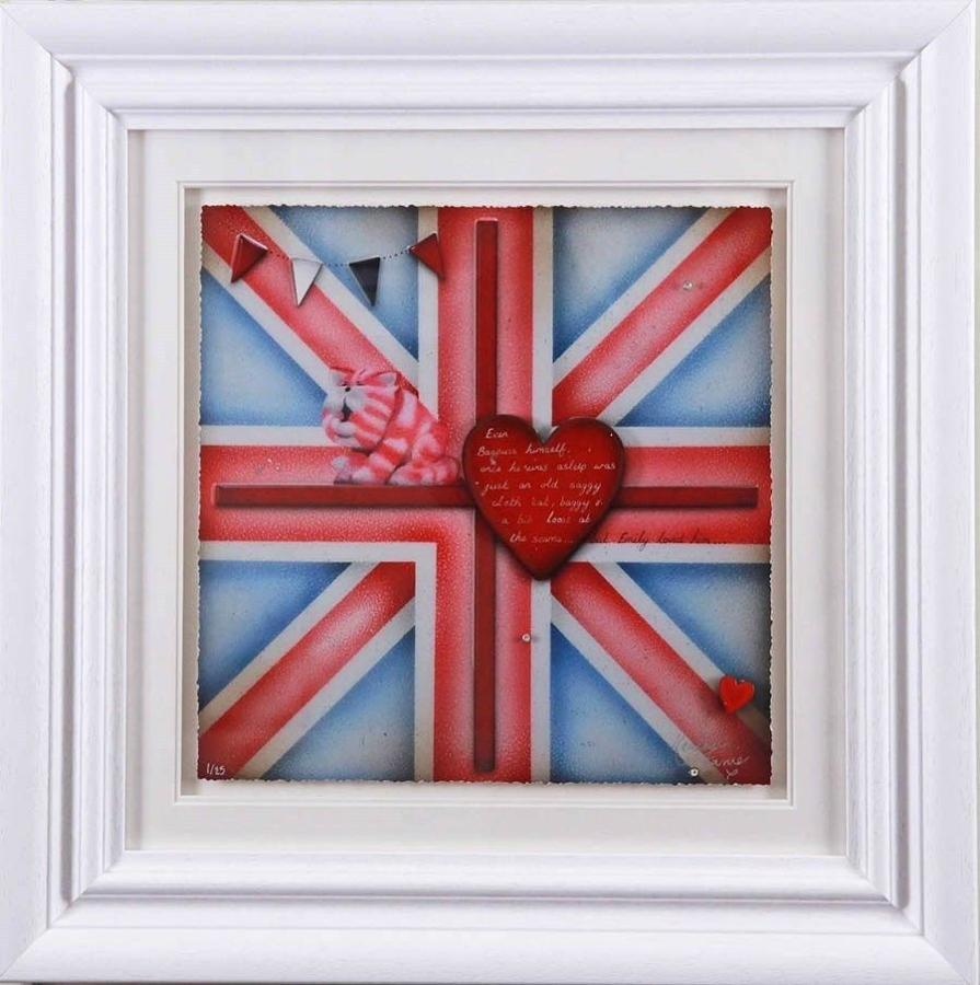 Britannia Bagpuss - Framed Art Print by Kealey Farmer