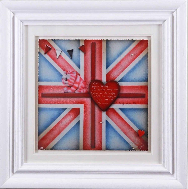 Britannia Bagpuss - Framed Art Print by Kealey Farmer